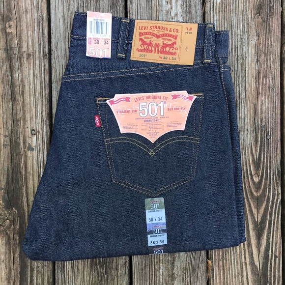 Levi's Other - Levi's 501 Shrink to Fit Raw Denim